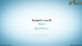 الأسباب الموجبة للجنة / الشيخ هاني حلمي