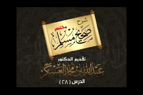 (28) باب صفة الغسل من الجنابة   - شرح مختصر صحيح مسلم