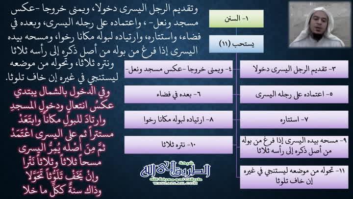 9- أحكام دخول الخلاء2 (ملح الناد في نظم الزاد)