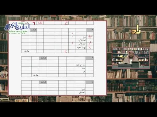 برنامج شرح كتاب التدريبات المُضيّة على المسائلِ الفَرَضِية  الحلقة 42