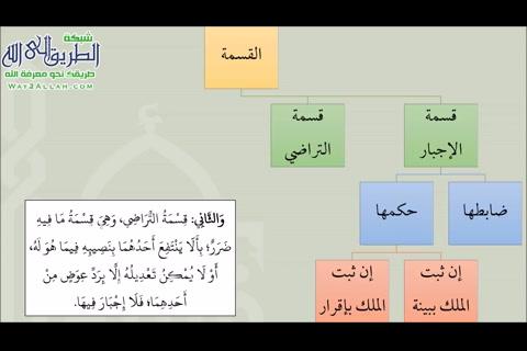 الدرس(5)شرحكتابالقضاءمنعمدةالفقه-بابالقسمة-كتابالقضاء