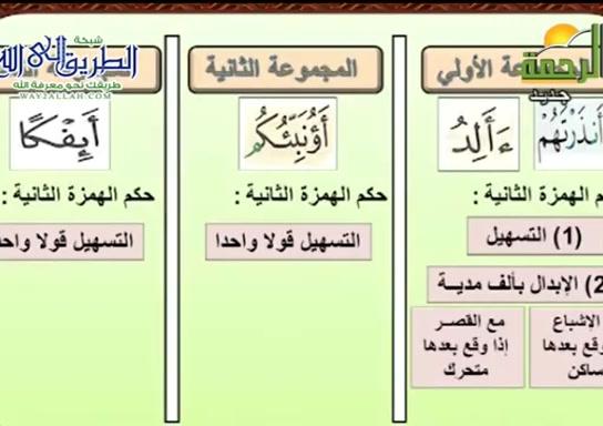 باب الهمزتين من الكلمة 2 ( 22/11/2020 ) قران وقرات