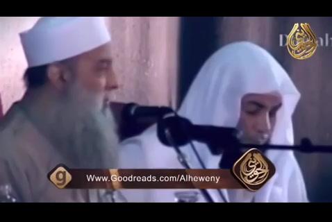 ومن يهاجر في سبيل الله - هنا بكى الشيخ الحويني