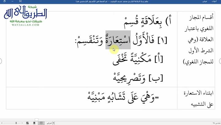 الدرس ( 39) شرح نظم زبدة البلاغة