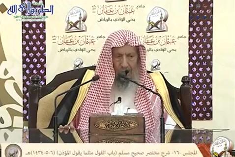 المجلس (16) شرح مختصر صحيح مسلم