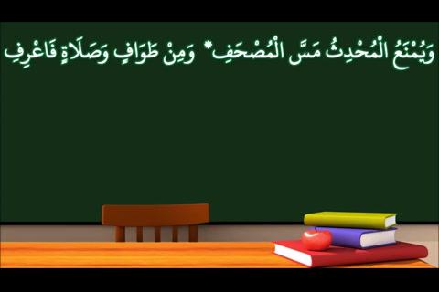 الدرس ( 14)نواقض الوضوء 3- شرح النظم الأصغر في الفقه للأطفال (الإصدار الأول 1439هـ)