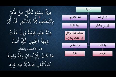 (مقادير الديات - ضابط دية الأعضاء) شرح النظم الجلي في الفقه الحنبلي