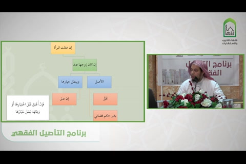 فصل إذا عتقت المرأة وزوجها عبد  - شرح قسم فقه الأسرة من عمدة الفقه