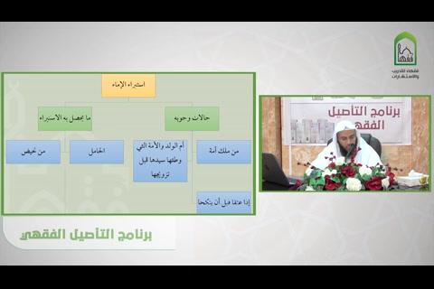استبراء الإماء - شرح قسم فقه الأسرة من عمدة الفقه