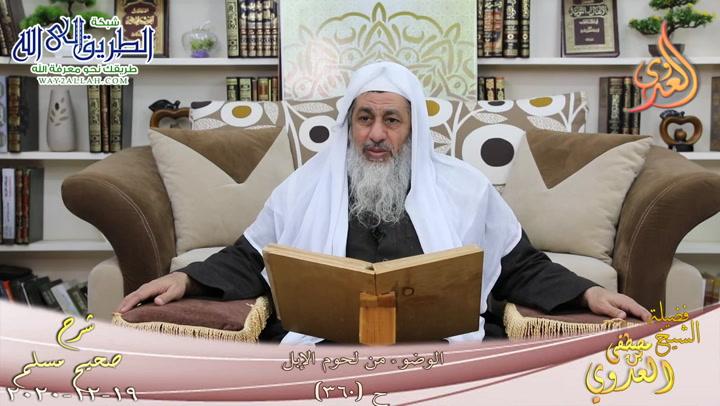 شرح صحيح مسلم -184- الوضوء من لحوم الابل ح -360-