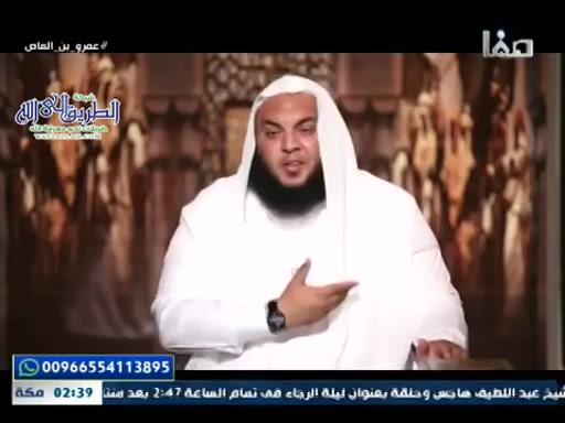 عمرو بن العاص ح10 - عمرو بن العاص سيد بني سهم
