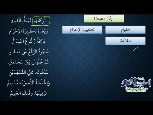 النظم البين في الفقه المتعين11 - أركان الصلاة